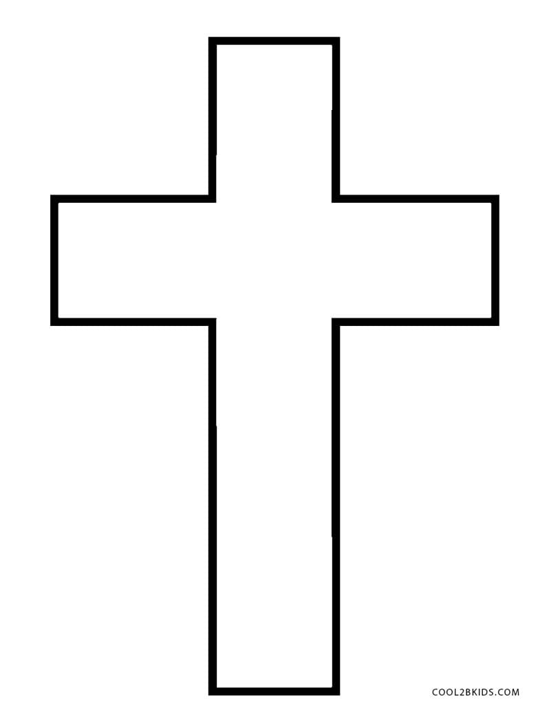 photo regarding Cross Outline Printable referred to as Cross Determine Coloring Webpages