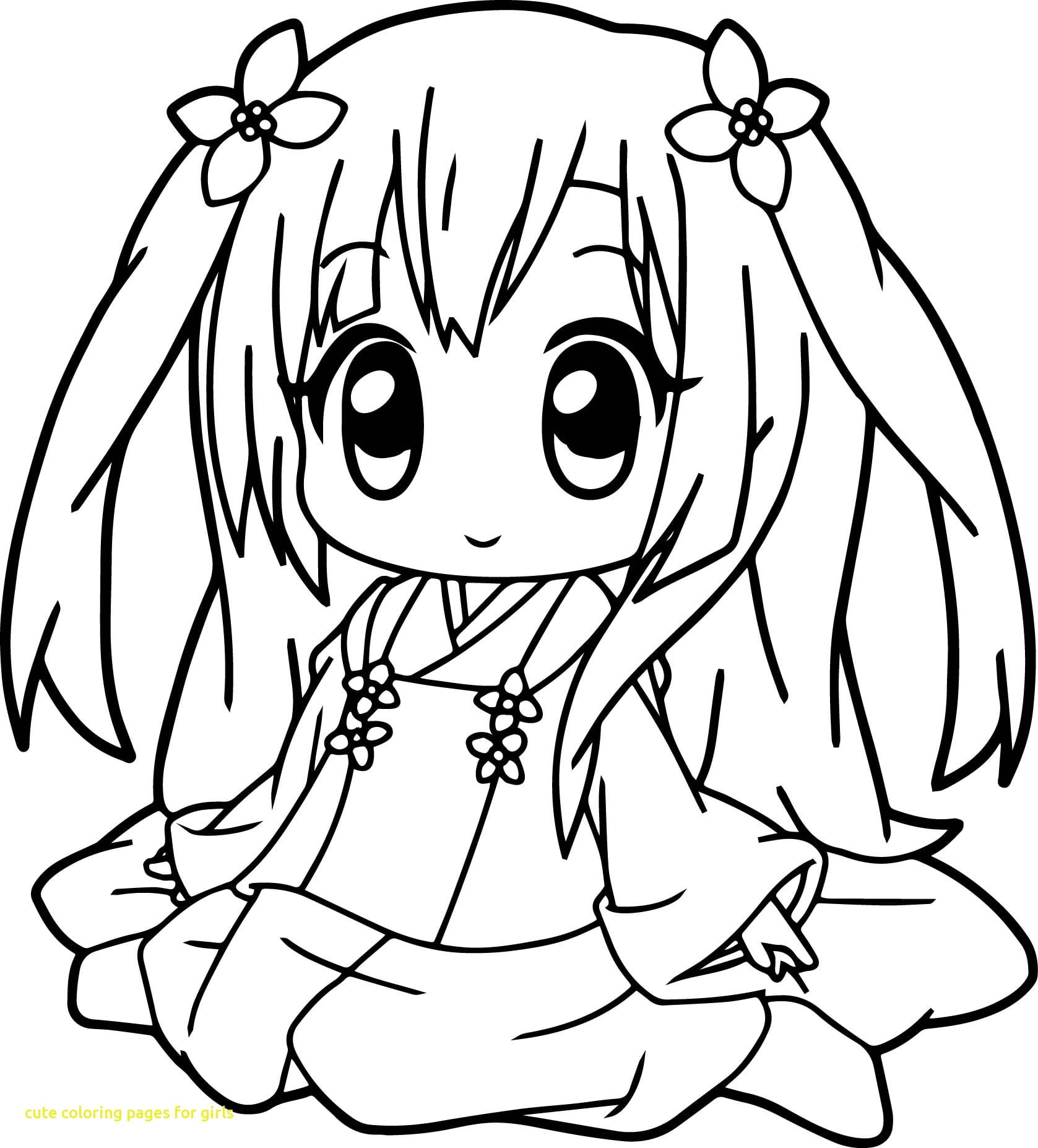 Cute Coloring Pages For Girls With Very Anime Girl Within