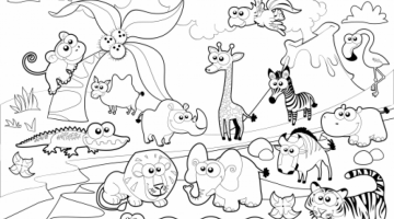 Printable Images Of Zoo Animals