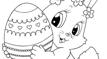 Easter Bunny Pictures To Color And Print