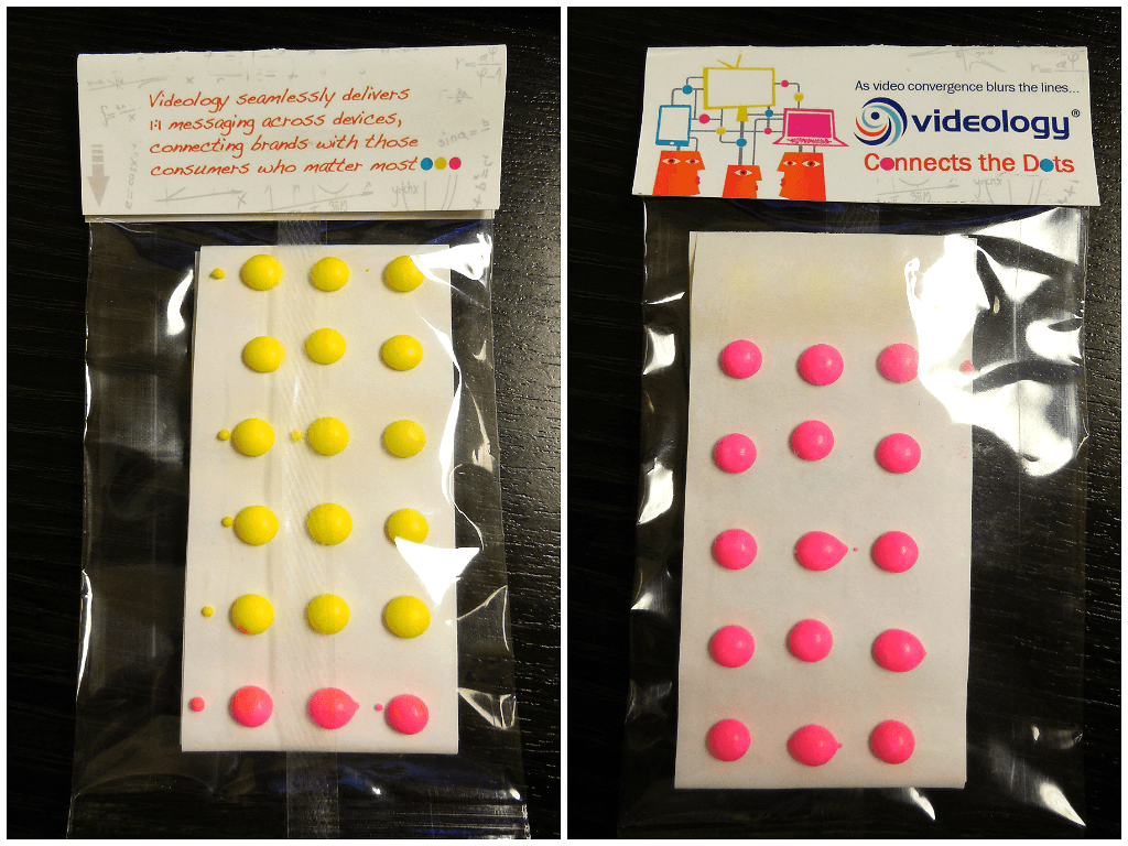 Candy Dots In Custom Header Bags For A Connect The Dot Theme Event