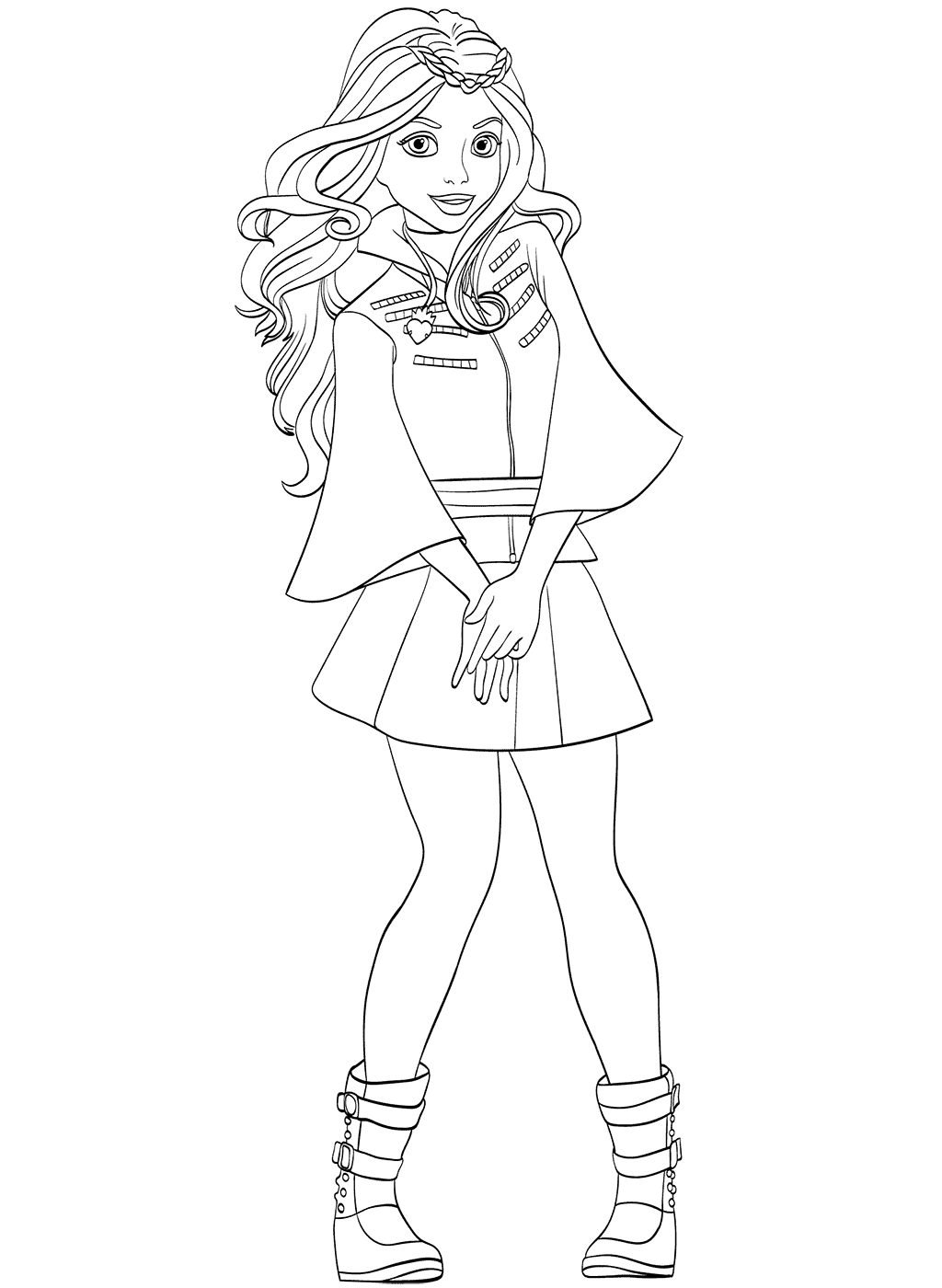 Evie Coloring Page