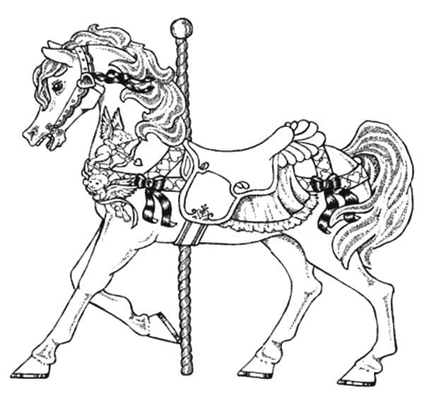 Coloring Pictures Of Carousel Horses