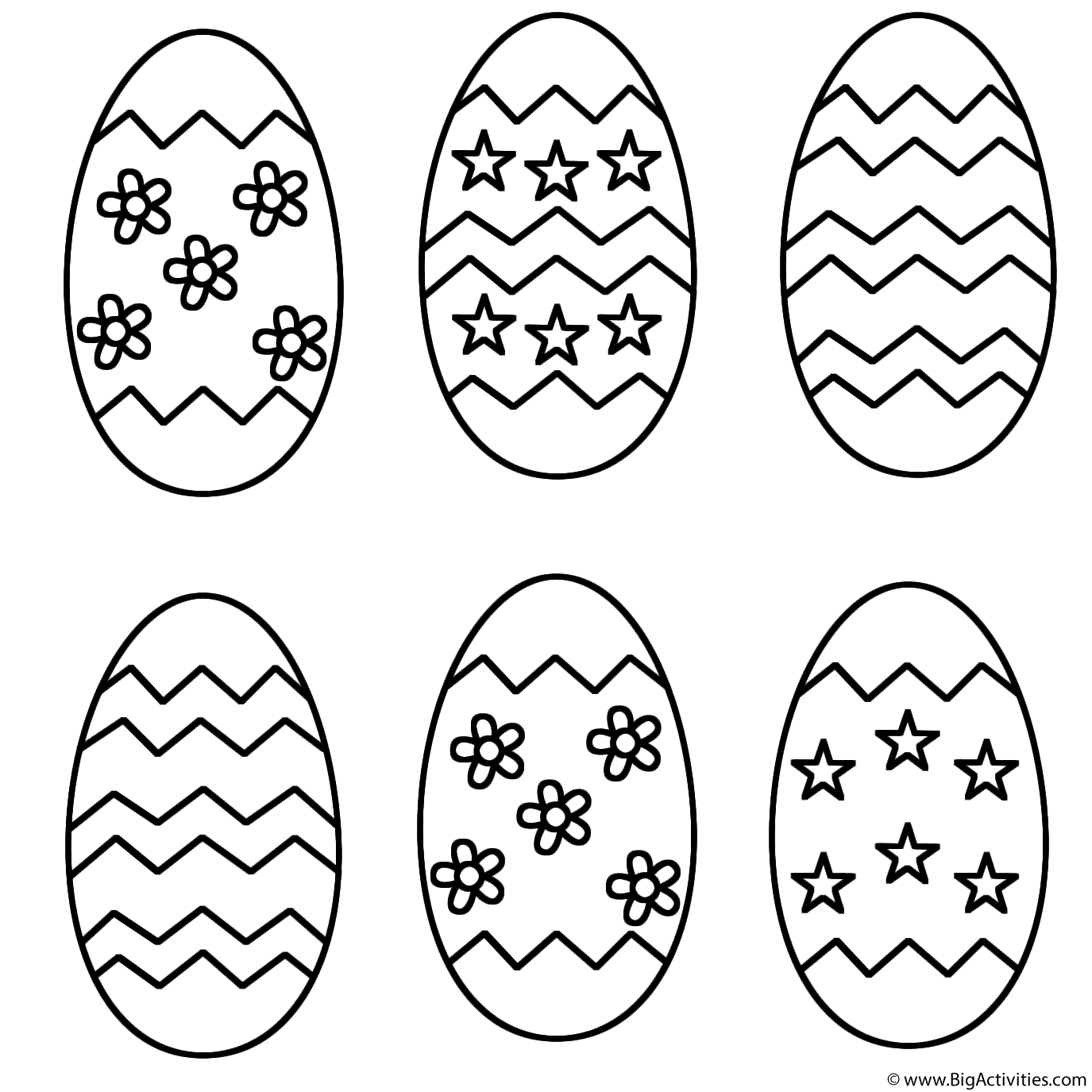 Six Easter Eggs