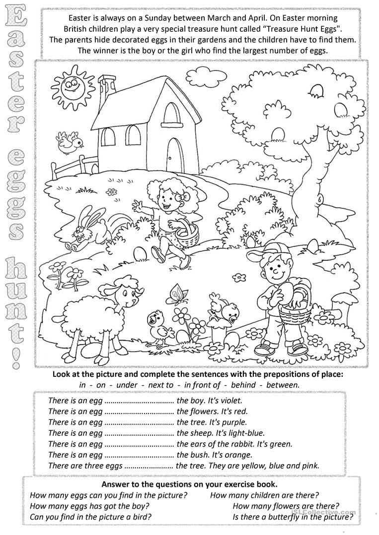 Easter Eggs Everywere Worksheet
