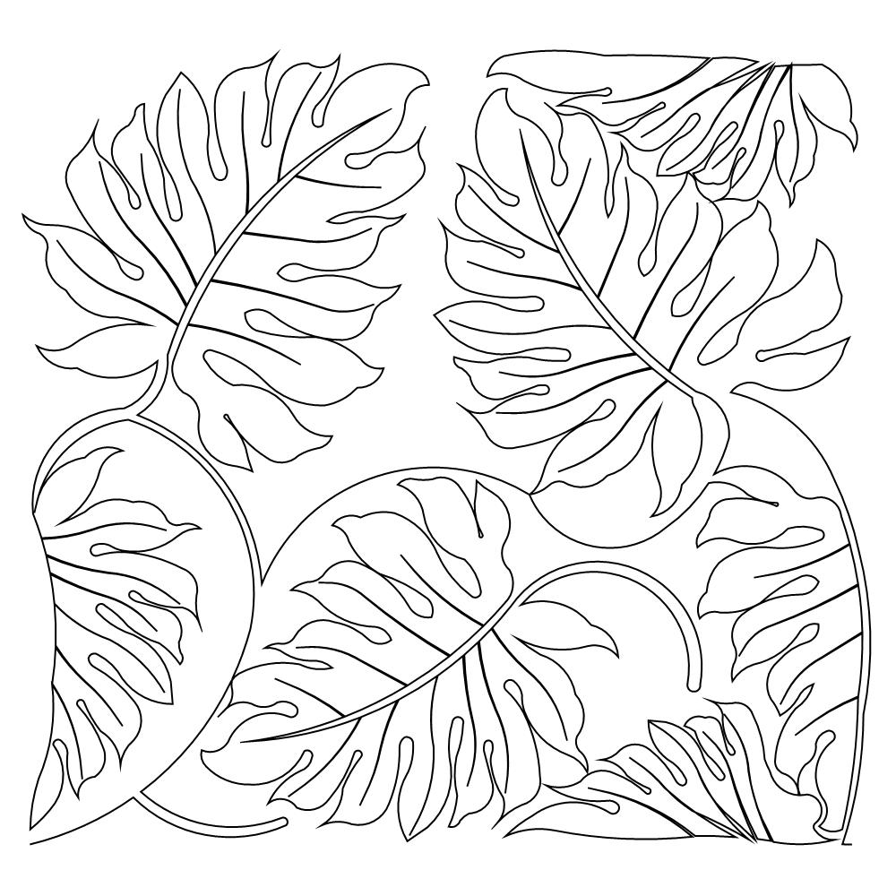 28+ Collection Of Jungle Leaf Coloring Pages