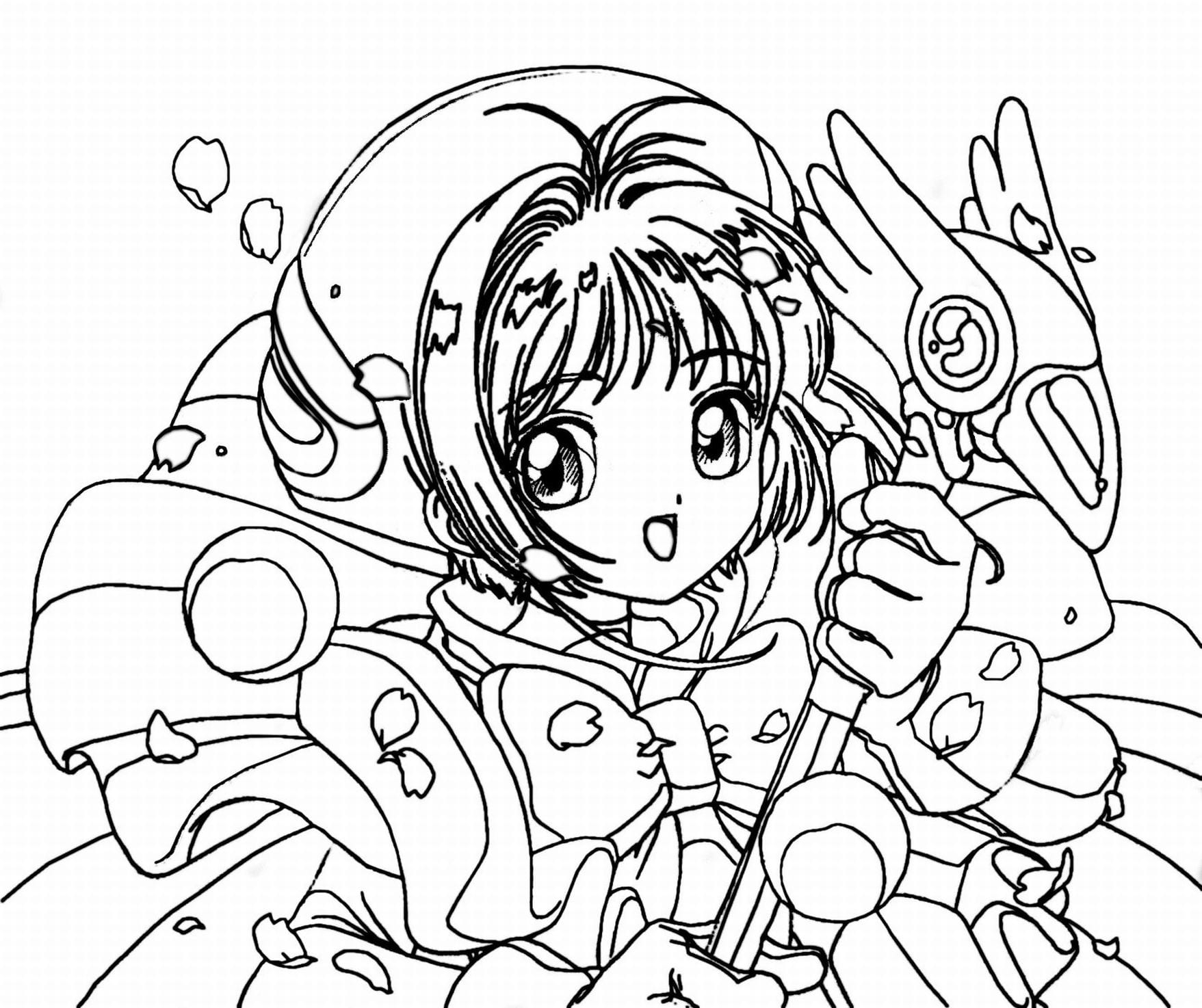 Anime Coloring Page  14244