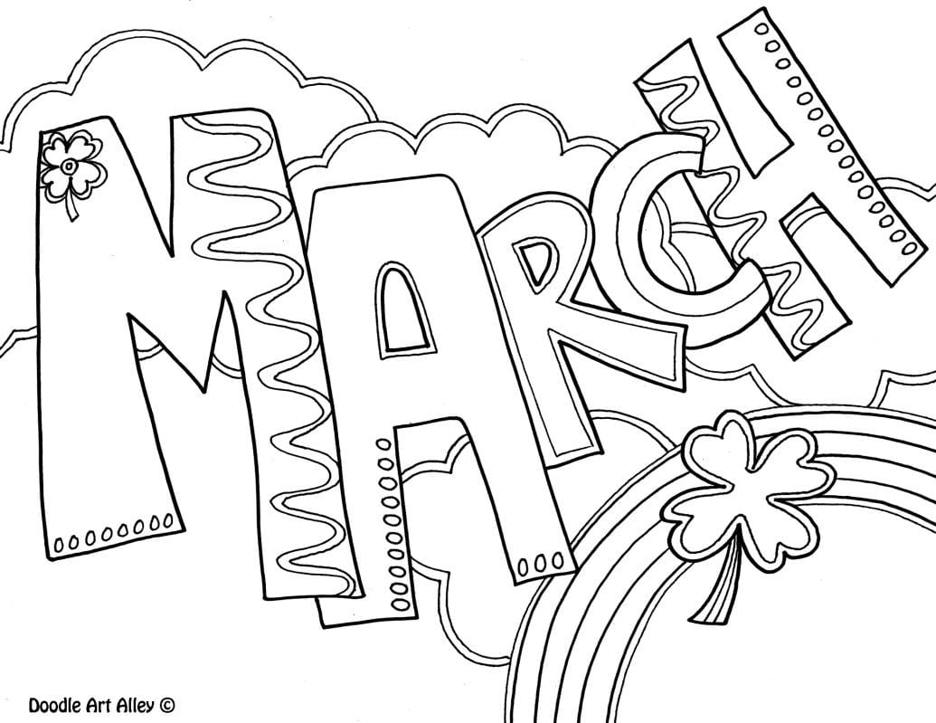 March Coloring Pages For Kids