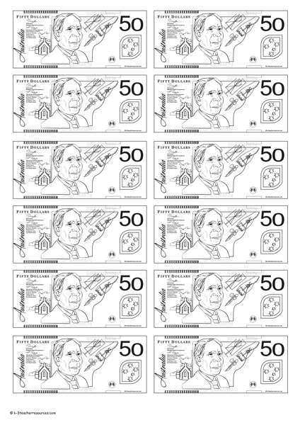 Canadian Money Coloring Pages