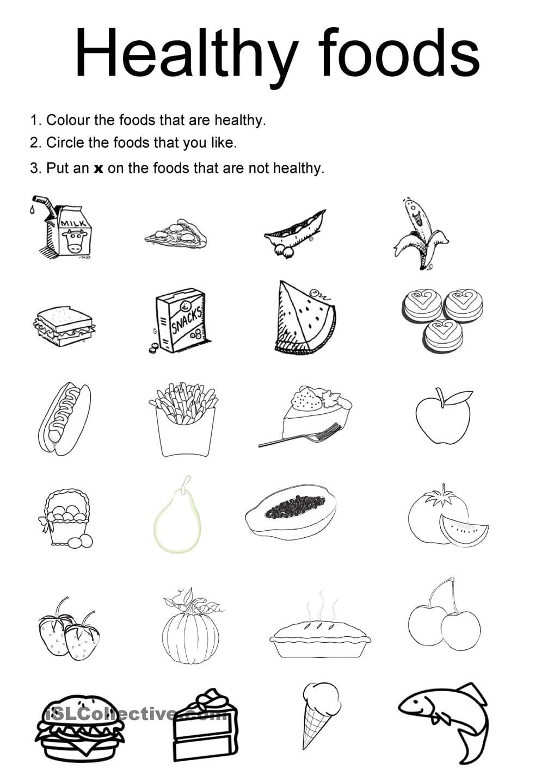Healthy Foods For Kids Worksheets (good Galleries)