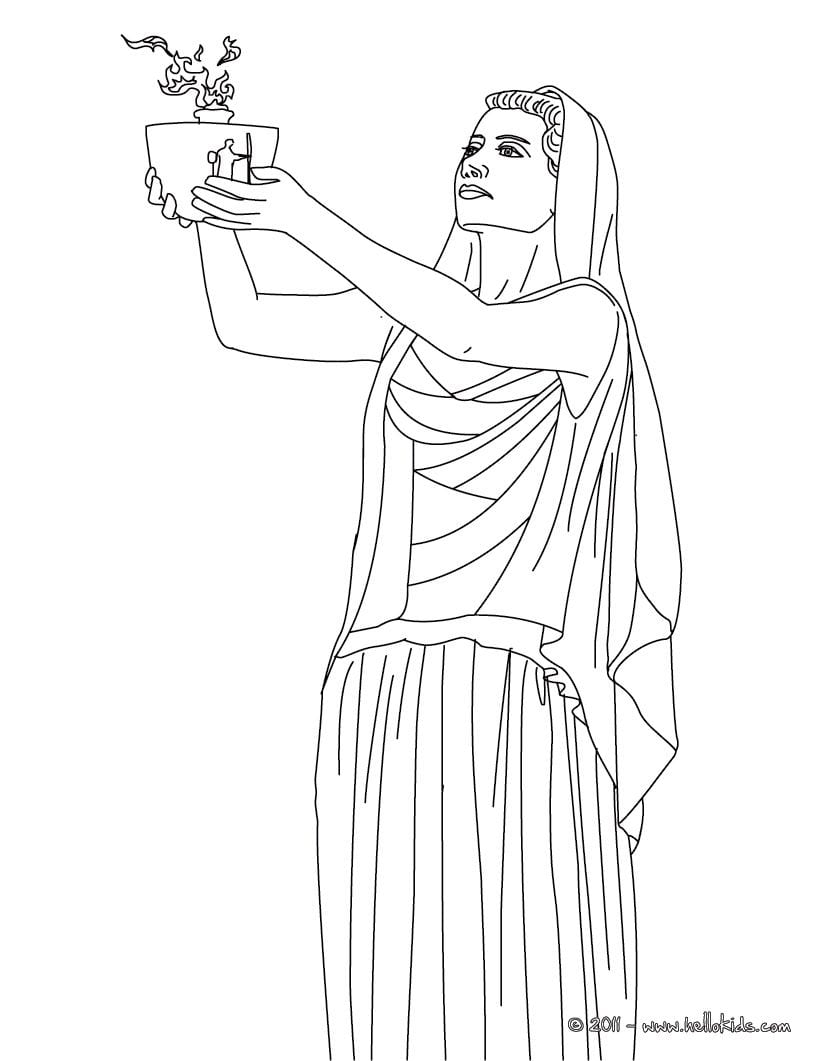 Greek Goddesses Coloring Pages
