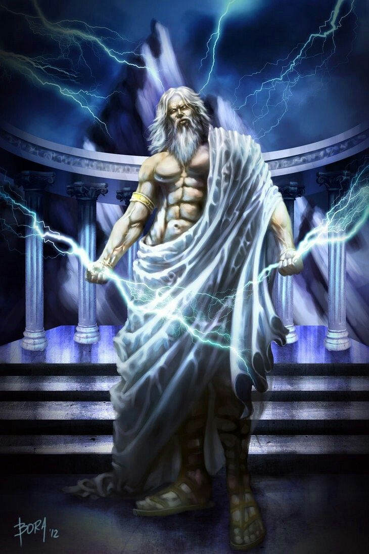 Zeus  God Of The Sky And Ruler Of The Olympian Gods  Overthrew His