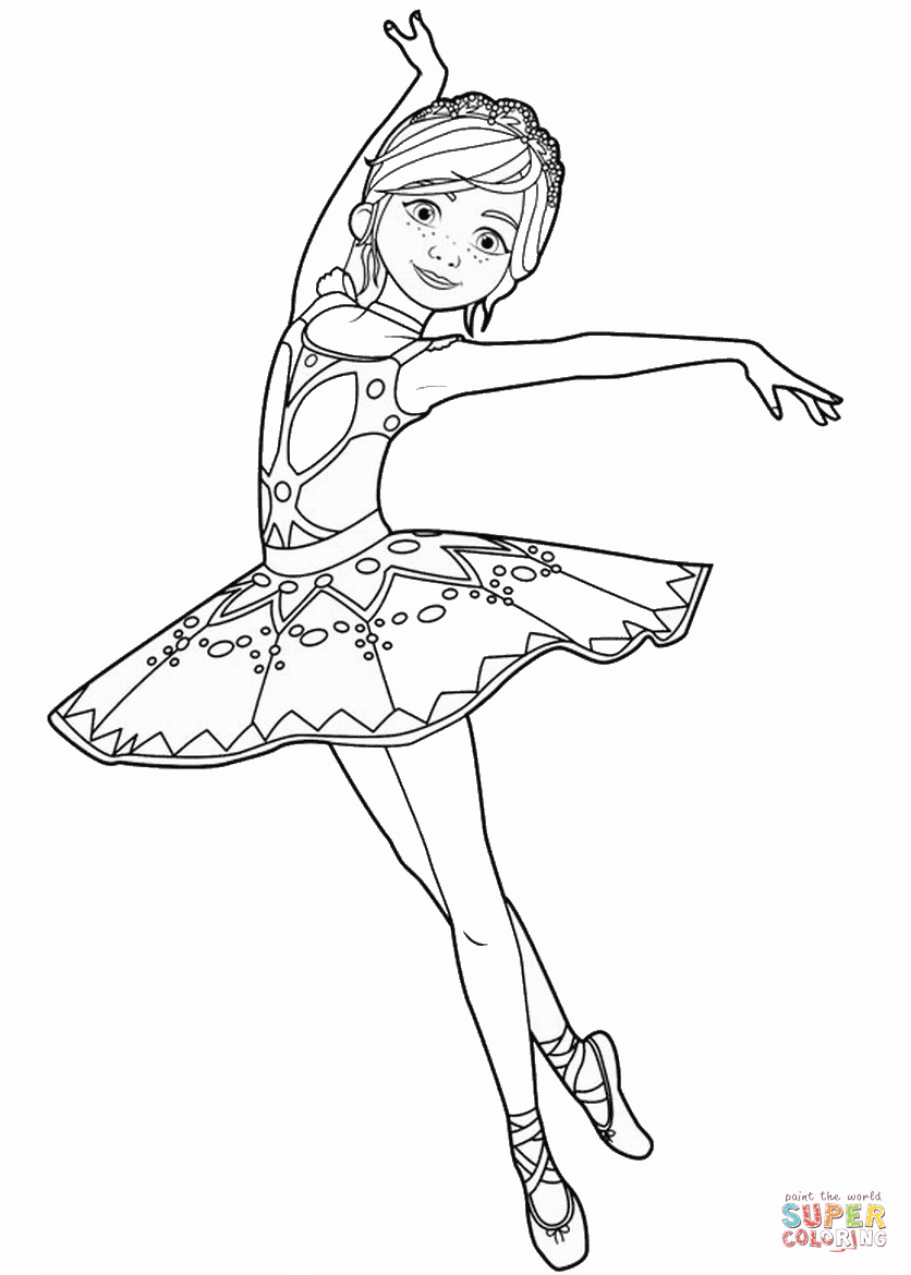 Félicie Milliner From Ballerina Movie Coloring Page