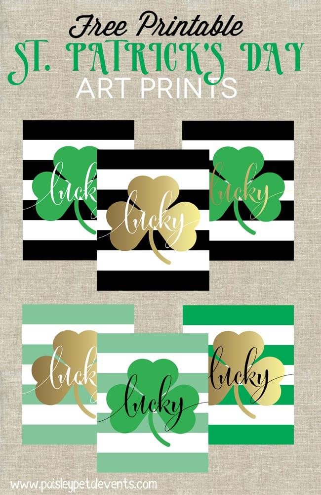 Freebie Friday  St  Patrick's Day Free Printables