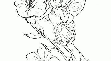Flower Fairy Colouring Pages