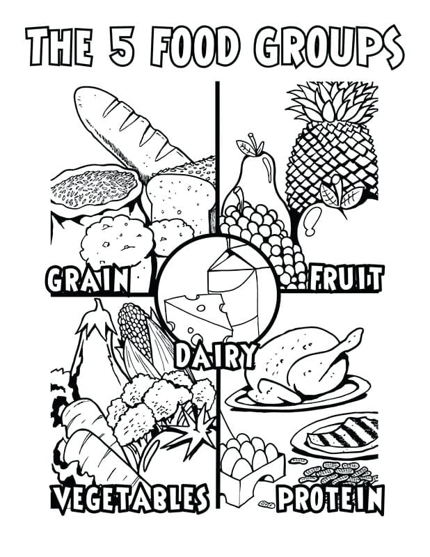 Food Groups Coloring Pages For Preschoolers Warm Nutrition Kids