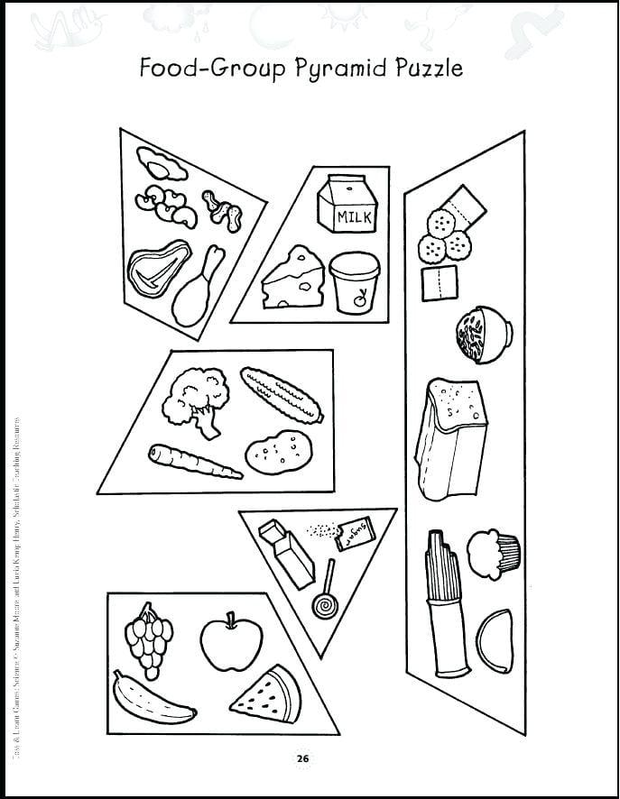 Food Pyramid Coloring Pages For Preschool Yoursupplyshop Com