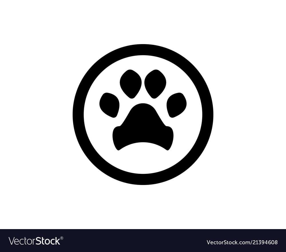 Foot Print Dog Animal Pet Logo And Symbols Vector Image