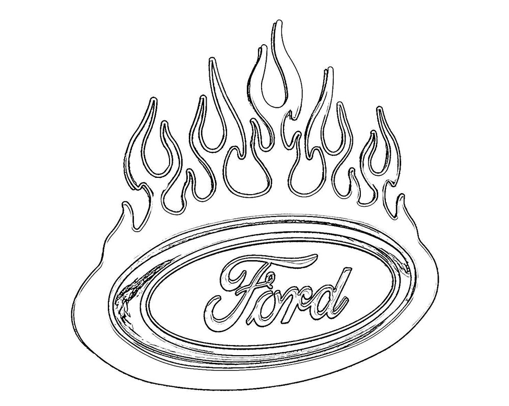 Ford Logo Coloring Pages