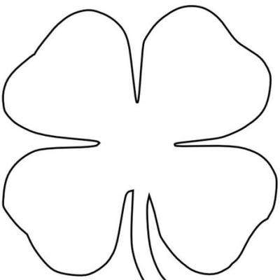 Four Leaf Clover Coloring Page 3 Leaf Clover Drawing At
