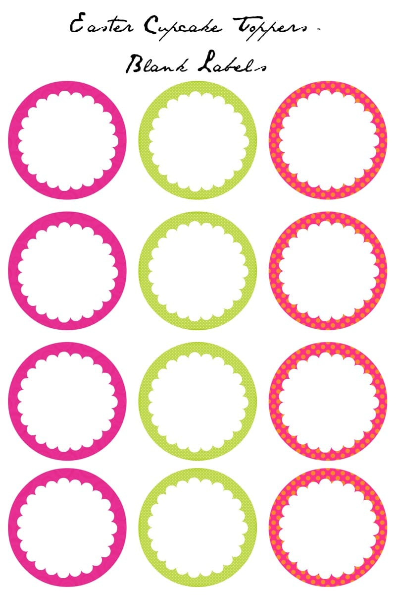 8 Cupcakes Ring Toppers Printables Photo