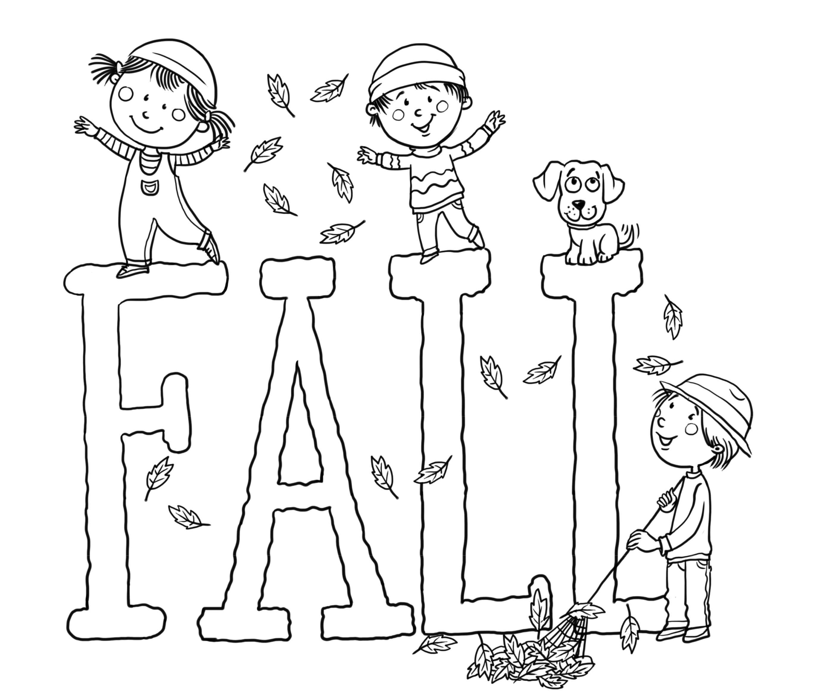 Autumn Coloring Pages 25 Free Printable Fall Online Within