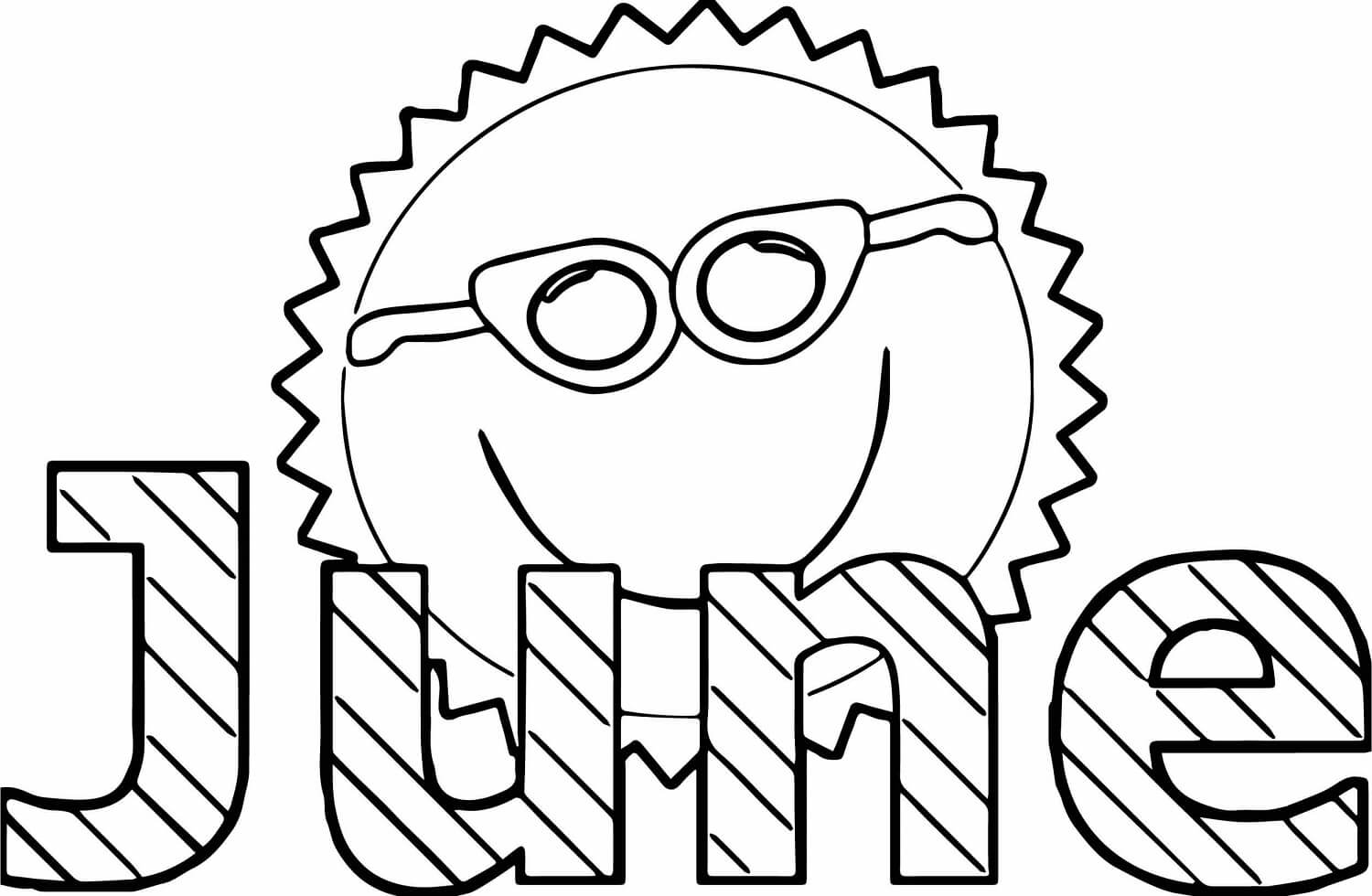 June Coloring Pages Free