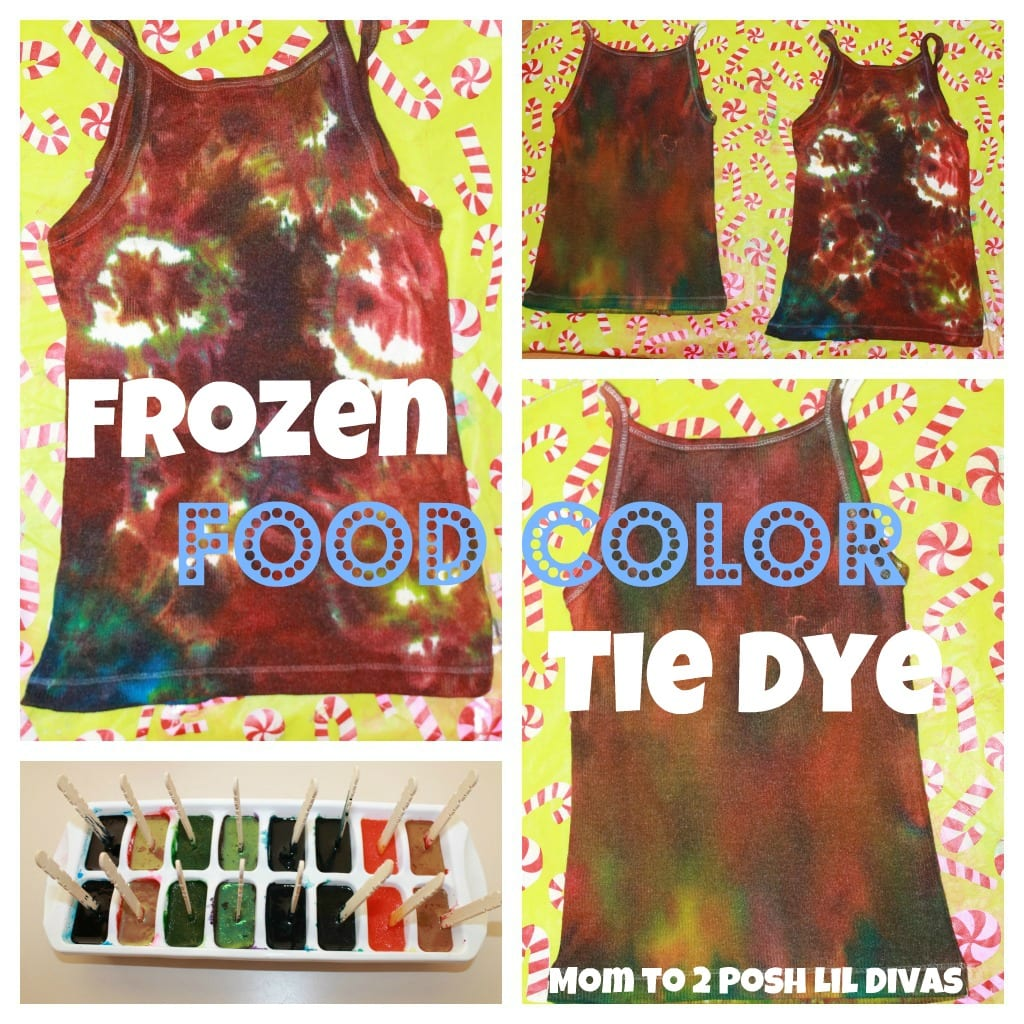 Mom To 2 Posh Lil Divas  Homemade Frozen Food Color Tie Dye Shirts