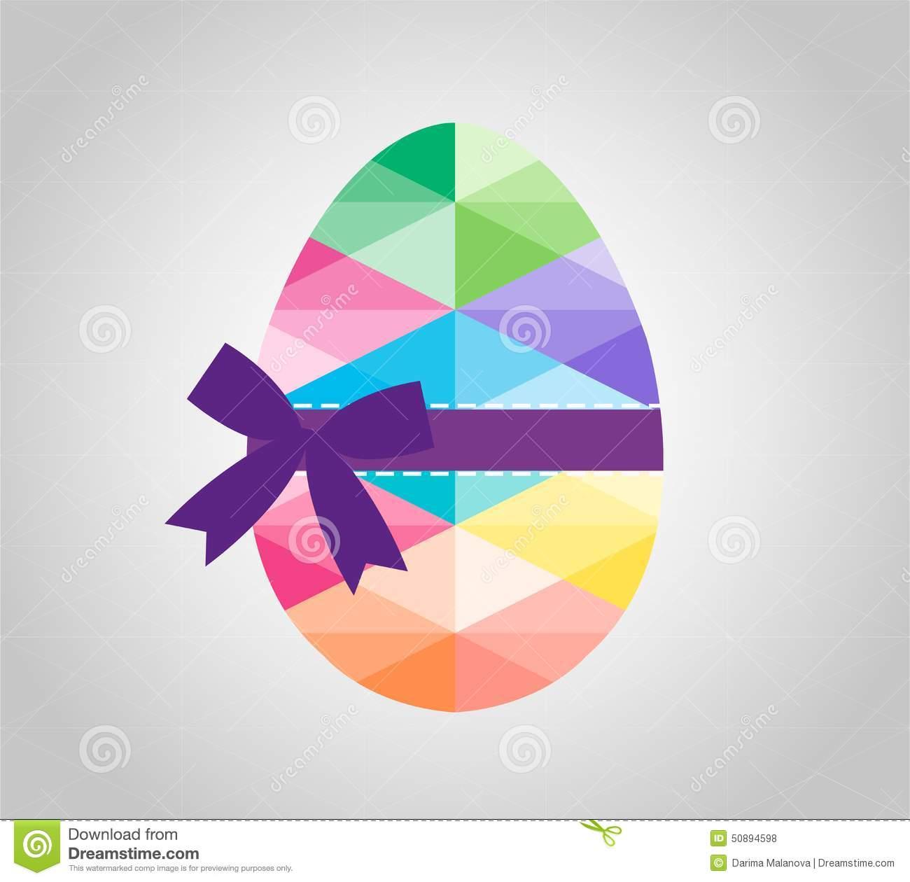 Geometric Shape Of Egg  Easter Egg Triangular And Stock Vector