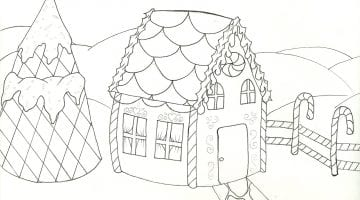 Gingerbread House Coloring Sheet