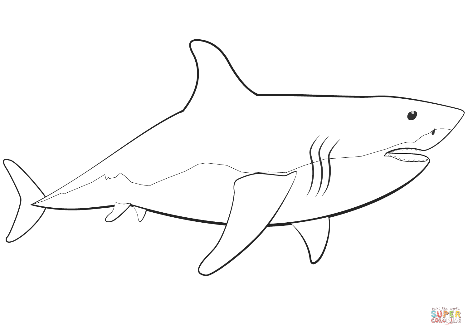 Great White Shark Printable Pictures - NEO Coloring