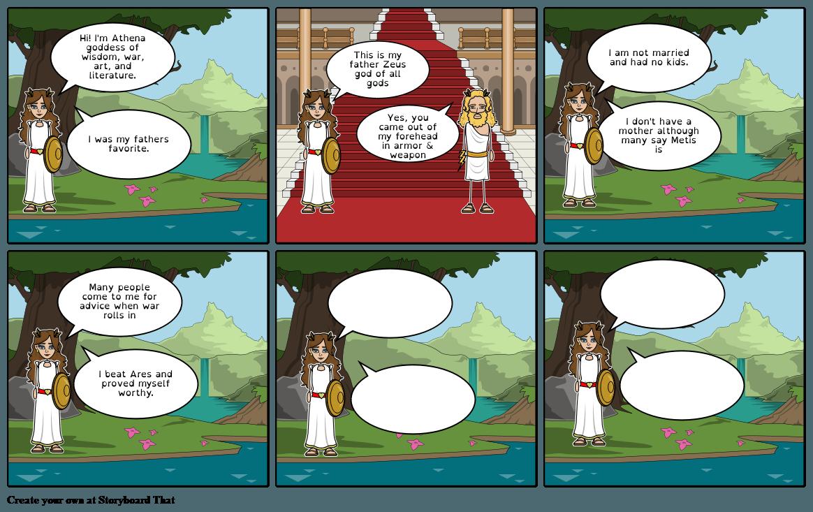 Greek Goddess Athena Storyboard By Dayanagonzalez