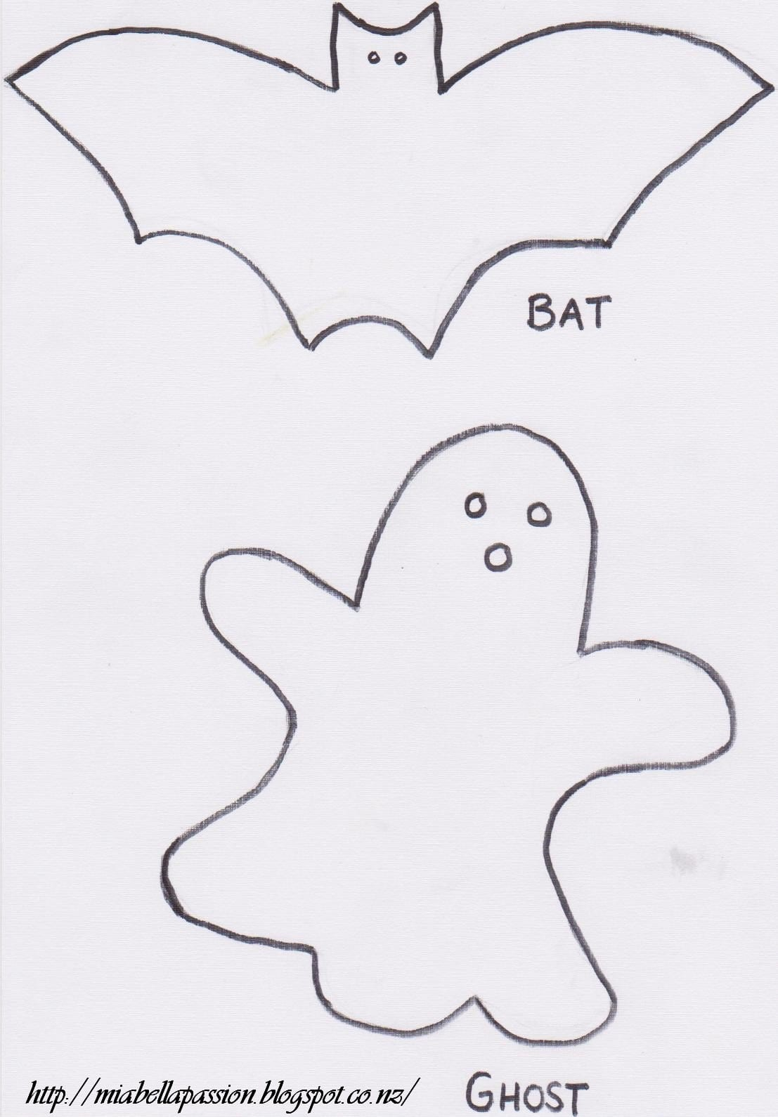 Supersize Ghost & Bat Halloween Cookies