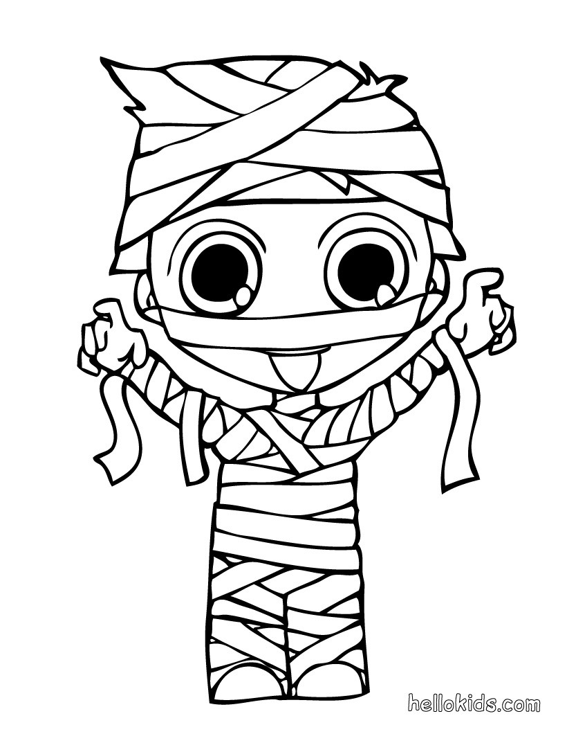 Kids Costumes Coloring Pages