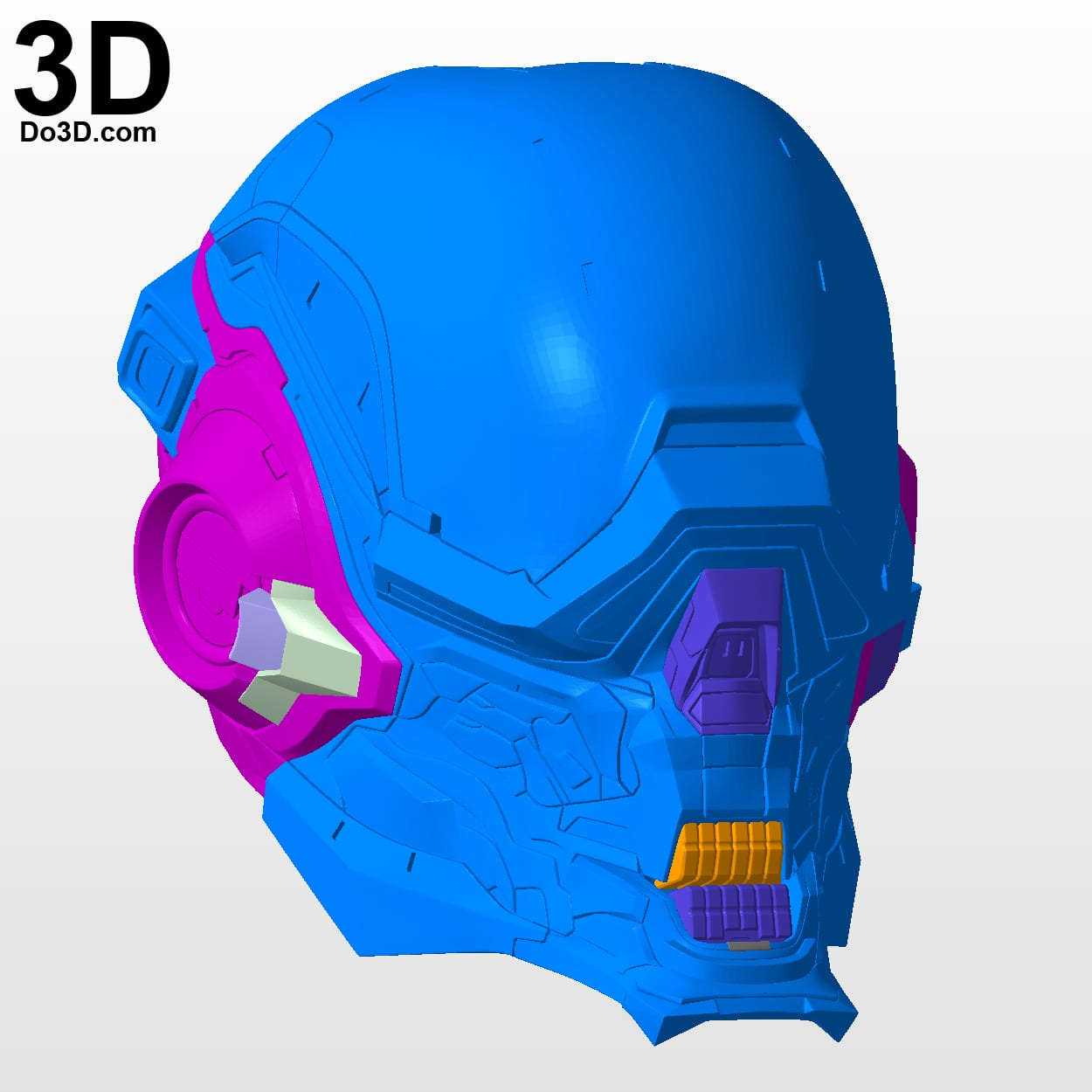 3d Printable Model  Halo Locus Helmet