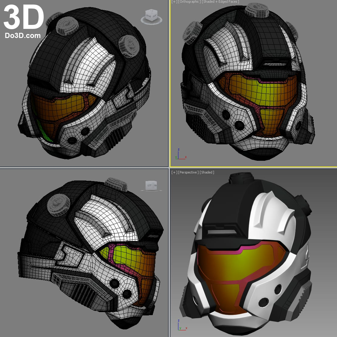 3d Printable Model  Halo Cqb Helmet
