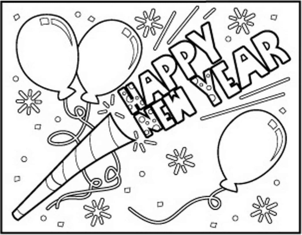 Free Printable Happy New Year Coloring Pages For Kids
