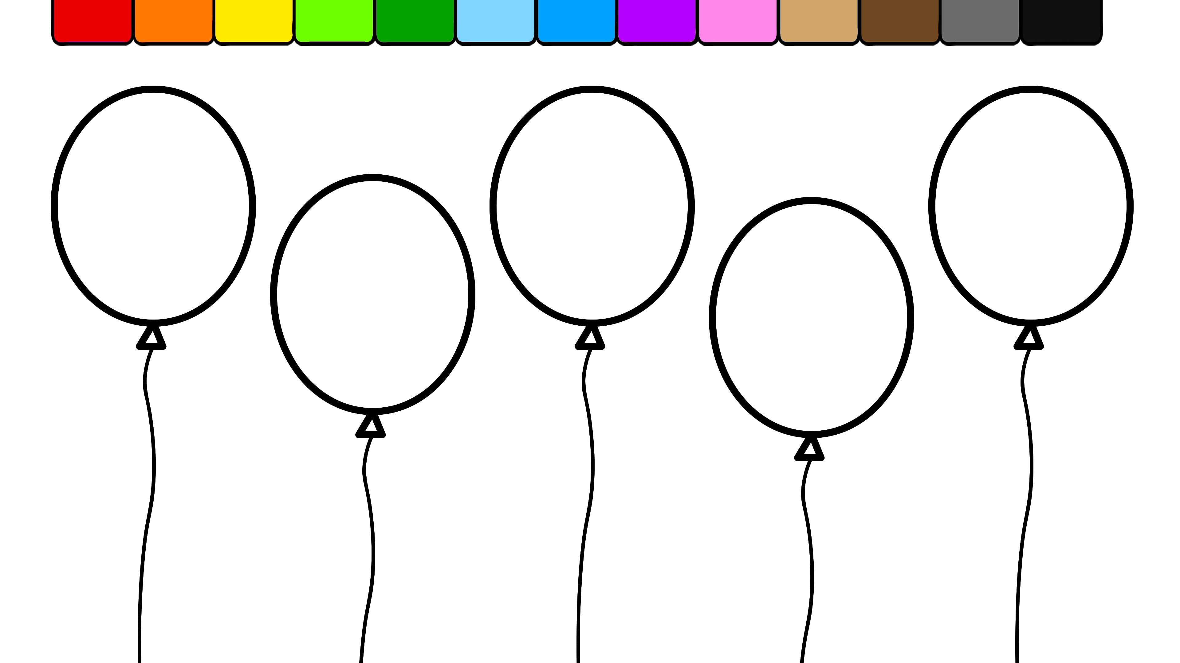 Unique Balloon Coloring Pages Printable Gallery Free At