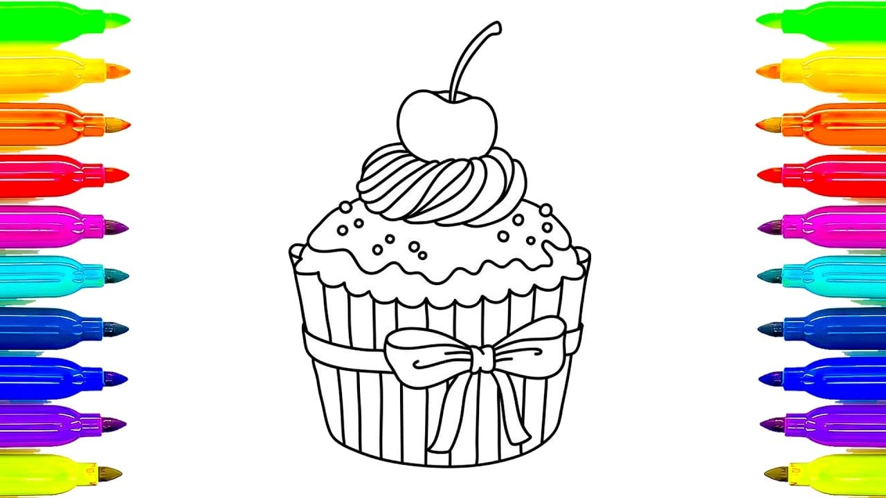 Coloring Book Pages Of Cupcakes S Coloring Page Doc Coloring Books