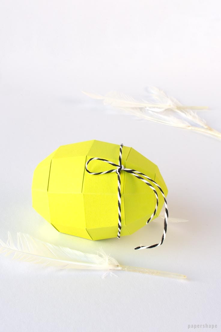 How To Make A Paper Egg (very Easy With Free Template)