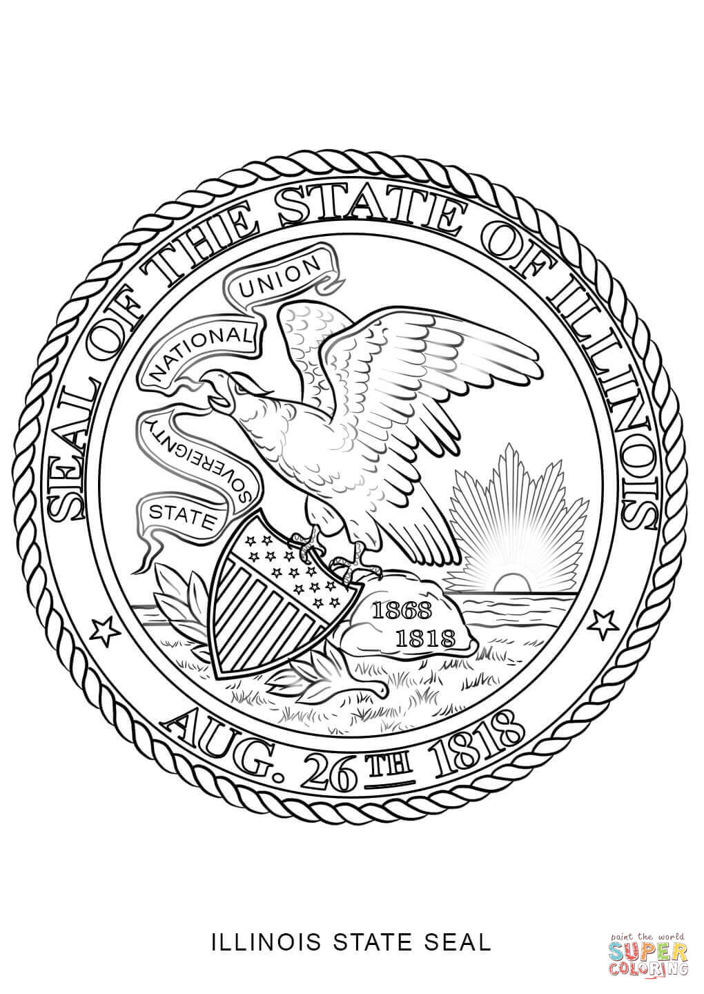 California State Seal Coloring Page Seal Pictures To Color