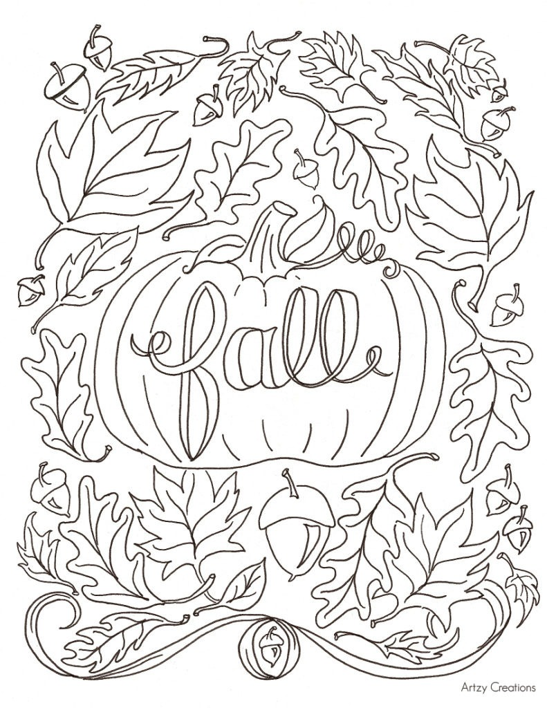Free Printable Coloring Pages Fall Season