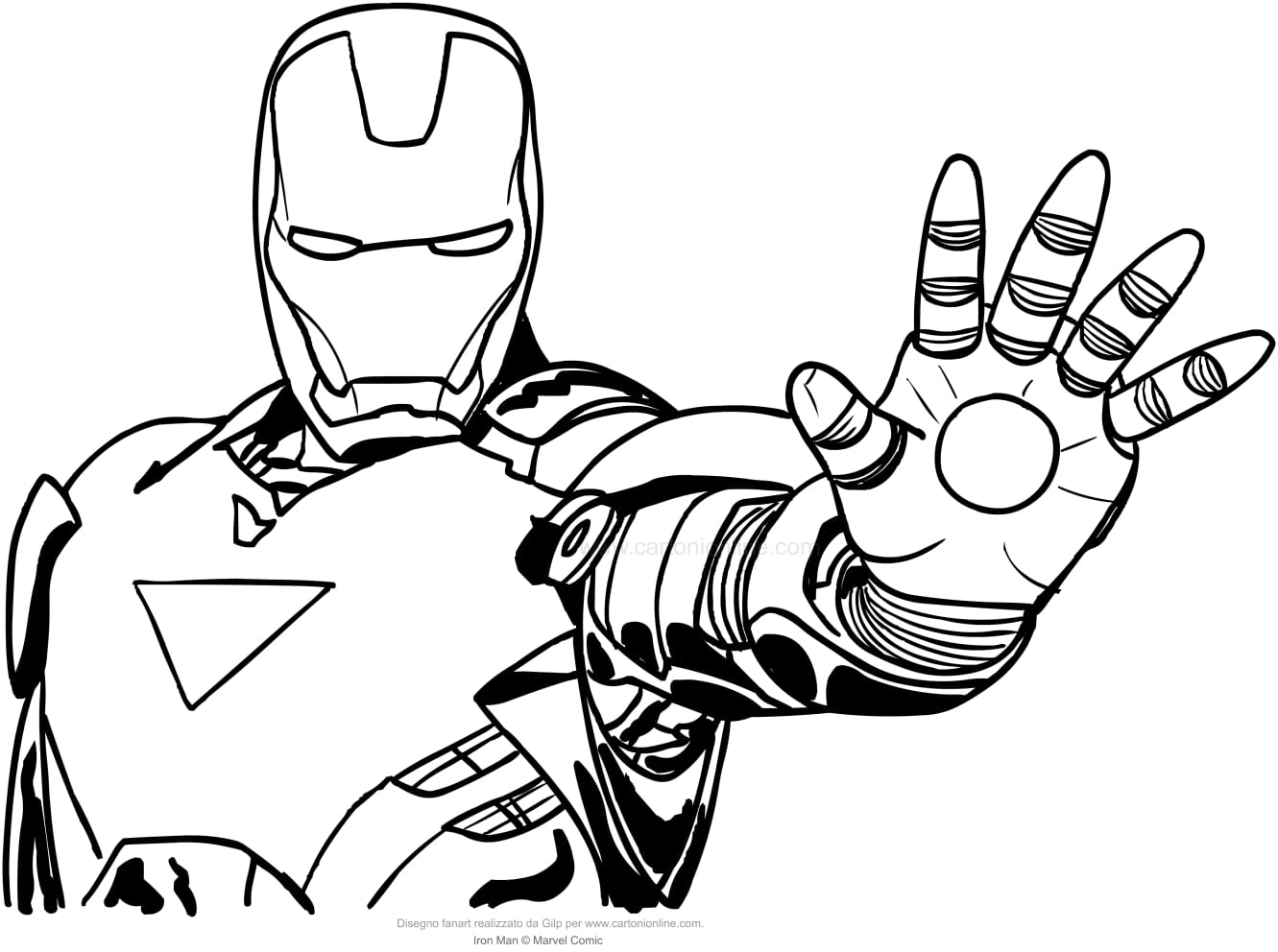 New Iron Man Coloring Pages Design