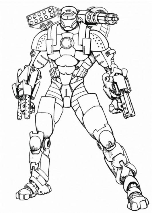 Iron Man Coloring Pages For Kids  131