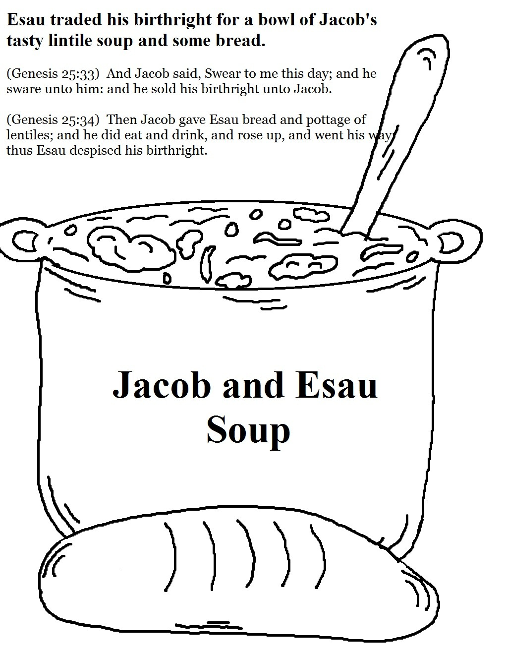Jacob, Esau And The Birthright – Mission Bible Class