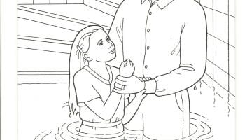 Free Coloring Pages Of Jesus Baptism