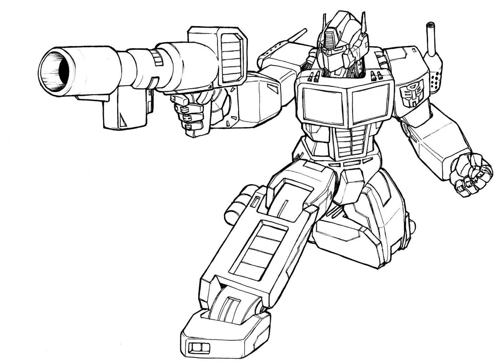 Just Arrived Transformers Printable Coloring Pages Optimus Prime