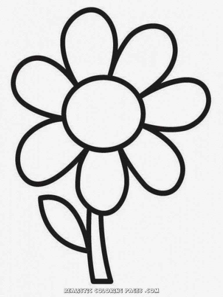 Simple Flower Coloring Pictures
