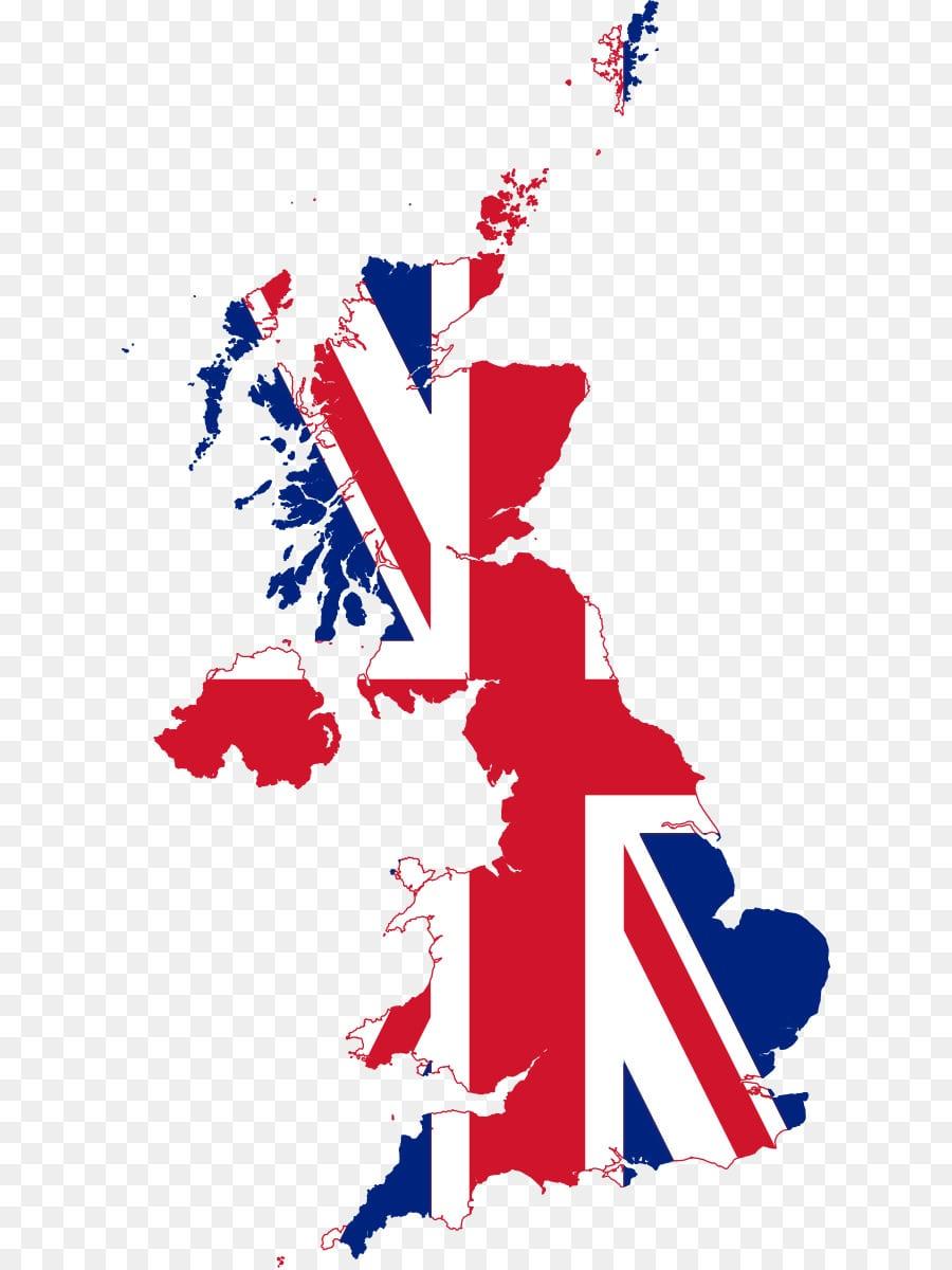 Quintessential England Map Flag Of The United Kingdom