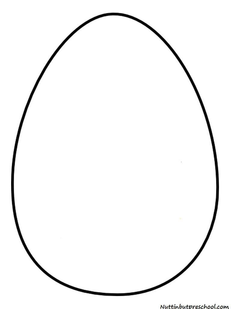 Large Easter Egg Svg Black And White Stock